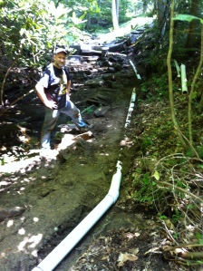 Ben at penstock. Thanks for your help.
