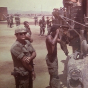Jose, watching us load onto trucks after standown on LZ Bronco