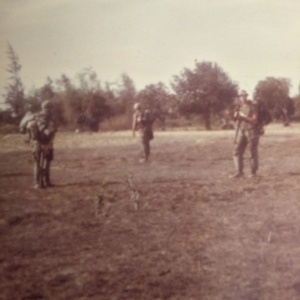 Lt York (resting his rucsack on his M16), Randy Evans & me