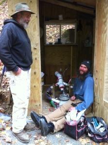 Happy hydro helpers.  Dave & Matt