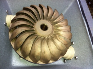 Cast bronze Turgo wheel